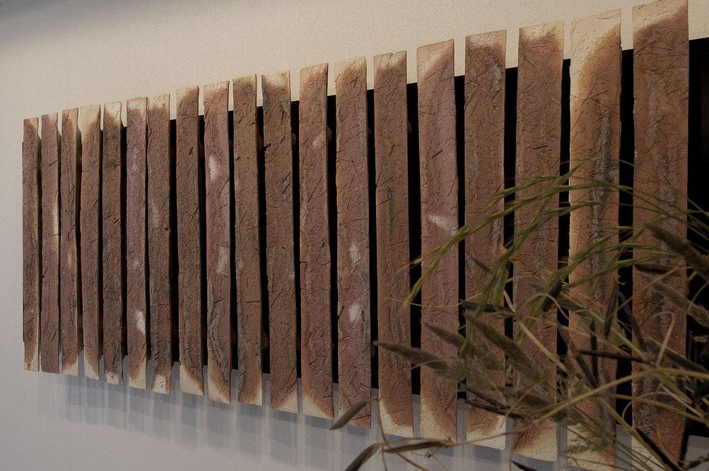 草の痕跡ー壁面-trace of grasses-